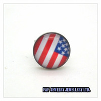 New Men's Women's  STAINLESS STEEL POST EARRINGS AMERICAN FLAG USA Patriotic Stud Pair , Free shipping,E#042