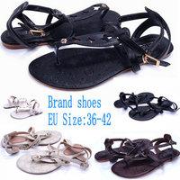 Big Size 36-42 Women's Sandals New 2014 Summer Flip Flops Lady Slippers Women Shoes Sandals For Women PU Leather Flip Flops