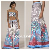Bohemia trousers Boho pants casual pants trend national artificial  Women's Aztec Print Palazzo Pants