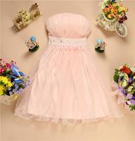 Tube top dressed slim dress Tuxedo ball gown