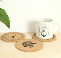 2014 Hot Selling Cup Mats Round Shape Creative Figures Cup/Bowl  Mats S-L Size 5pcs/Lot Wood Material Free Shipping ZHT062 Small