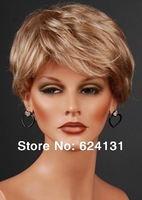 Free shipping wholesale 2014 new arrival 10'' short blonde Curly wigs for young girl