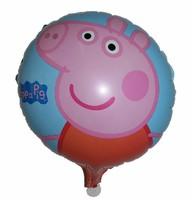 hot-selling 10pcs/lot peppa pig balloon /peppa pig party decoration/peppa pig party supplies free shipping