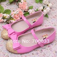 SoKoll Brand! 2014 New Glitter Children Ballet Flats Girls Wedding Shoes 3 Different Color