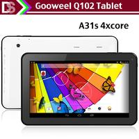 10.1inch Newest tablet pc Gooweel Q102 Allwinner A31s Quad core Android 4.4.2 HDMI WIFI camera Bluetooth 1GB RAM 8GB/16GB ROM