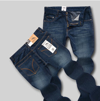 Hot! Free Shipping Men's Jeans Straight Mid-Rise Fashion Casual Jeans Slim Cotton Jeans 1pc/lot