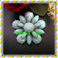 2014 new style flower shape acrylic rhinestone brooch