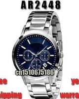 Hot New AR2448 AR 2448 Quartz Chronograph Mens Watch Stainless Steel Strap Gents Wristwatch Classic Fashion Watch