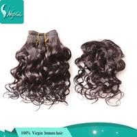 wet and wvy virgin hiar 3pcs with 1pc closure brazilian water wave 5a human weave wavy hair extensions brazillian hair bundles
