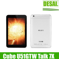 Cube U51GT W U51GTW Talk 7X Android Tablet PC 7 inch Phone Call MTK8312 Dual Core 1.3GHz WCDMA GPS Bluetooth FM