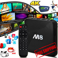 DHL free shipping Wholesale 2pieces M8 Android Smart tv Box Quad-core S802 Fully Loaded XBMC Kodi Adult Devil Free tv and movies