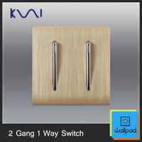 Free Shipping, Karpinski luxury wall switch panel, 2 Gang 1 Way Switch, Fluorescence , C31 Series, 86*86mm, 10A, 110~250V