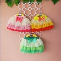 Free Shipping New 2014 Spring Summer Fluffy Skirt Girl's Skirt Children Flowers Skirt Girl Print tutu Bow skirt brand pettiskirt