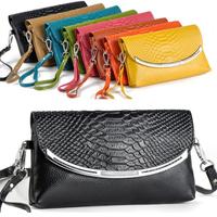 2014 Women's Handbags Genuine Leather Messenger Bag Fashion Evening Bag Wristlet Cosmetic Bag Clutch Purses, Free Shipping HSL88