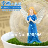 new design polyresin ABS Glass Angel Christmas  wedding birthday gift  night lamp crystal ball