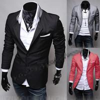 FREE SHIPPING,Fashion Brand Men's Dress Suit,Korean Design Slim Fit Blazer,Gentle Stylish Men's Suit Jackets Male 2436