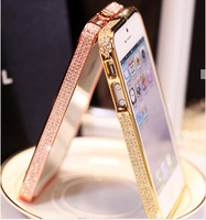 Crystal Bling Diamond Luxury Metal Frame Bumper Case Cover For iPhone 5 5S 5G