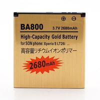 BA800 2680mAh High Capacity Gold Business Battery for Sony Xperia S / LT26i / Xperia Arc HD