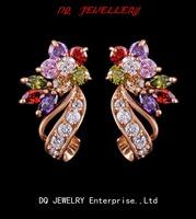 Elegent Cubic zirconia/amethyst/ruby/black/orange/multicolor/white Earring Jackets for women