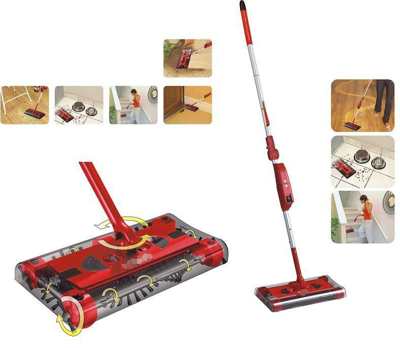 Latest Sweeper G3 ROTARY electric mop rod 360 degree Cordless Swival rechargeable for floor vacuum cleaner household broom(China (Mainland))