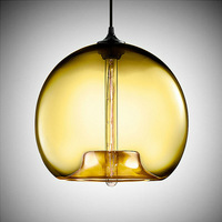 New Top selling Modern Glass Pendants Lampes with Amber Color,Indoor Lighting,Free Shipping,YSLNC04A