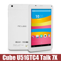 "7"" 3G Phablet  Cube U51GTC4 Talk 7X IPS Quad Core MTK8382 Android 4.2  IPS bluetooth FM GPS 2.0 mp camera"