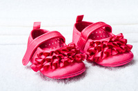 Cute children's shoe bow Baby Shoes color rose bow soft sole baby shoe Girls Warm Free&Drop Shipping