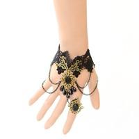 Free Shipping Vintage Gothic Bride Wedding Jewelry Lolita Lace Bracelet Z2T4C ( minimal Mixed styles $5)
