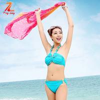 2014 New style Swimwear sexy bikini 2 pieces set women female tinglang AKJ7003