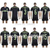 New arrival 14/15 wc spain away thai quality soccer jersey+ shorts kits, spain xavi david villa alonso torres soccer uniforms