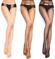 free shipping women pantyhose open crotch sexy stocking lady's cutout bak fashion tights hose