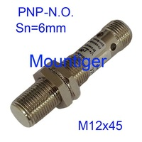 Sn 6mm flush PNP-NO / D1B1-M1206P-OES4/ short size M12x1x50 Mountiger DC Inductive proximity switch M12 Euro-style connector