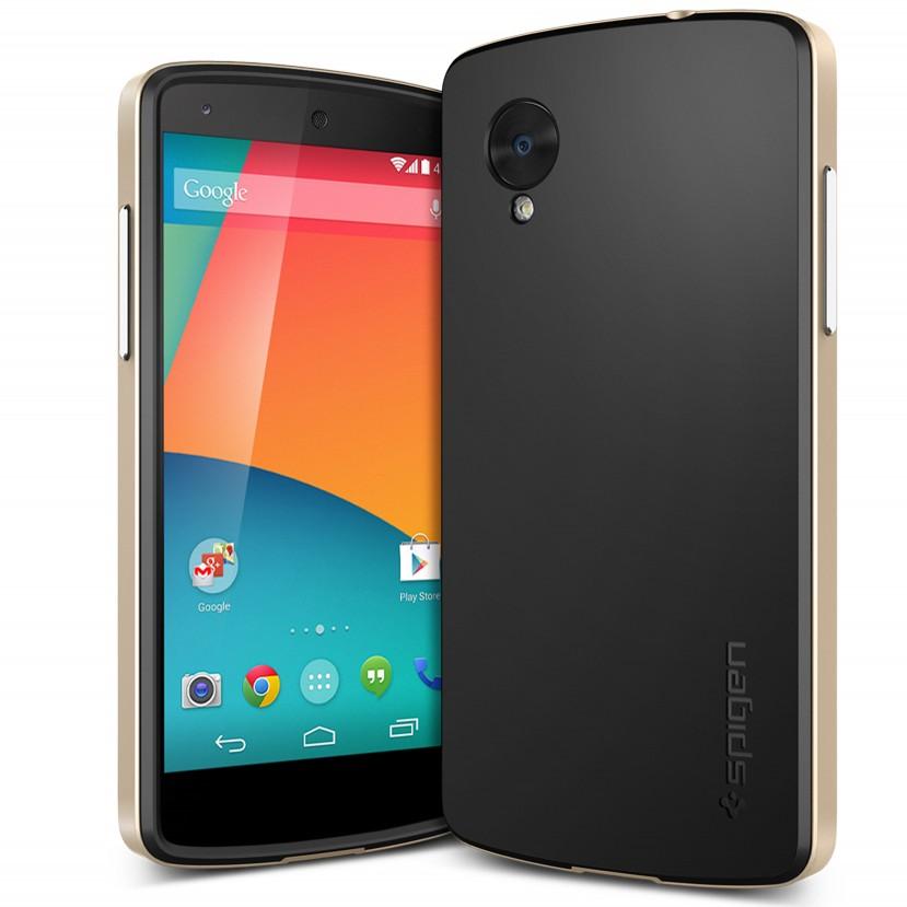 New Arrival ! Case for LG Google Nexus 5 Gold Neo Hybrid SPIGEN SGP N5 E980 D820 D821 Hard Back Mobile Phone Cover RCD03865(China (Mainland