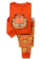 Retail new design Boys Girls Clothing Set Children Pajamas Long Sleeve Pyjamas, Kids garfield sleepwear in stock