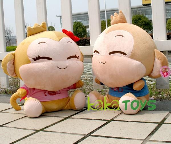 Children's gifts cute cartoon Hip hop monkey plush toys (30cm H),Cute cartoon Plush toy doll(China (Mainland))