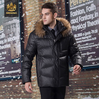 The 2014 winter warm down jacket male short section of high-end business men's new down jacket cotton