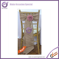 wholesale free shipping 100pcs 19138 hessian burlap fancy chair cover tie bow sash
