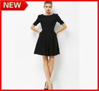 HOT 2014 New Arrival Spring Fashion WOMEN SIXY Plus Size Clothing One-piece Dress SIZE S-XXXL 100%Acetate FREE SHIPPING