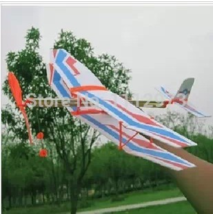 Hot modelism assembled rubber band elastic airplane model toy Kids birthday gift(China (Mainland))