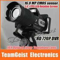 "NEW POLO SHARPSHOTS HD9100 16.0MP Digital Video Camera DSLR 2.5"" LTPS LCD 720P HD Camcorder 16X Wide Zoom LENS DV remote control"