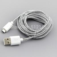 3M Braided Nylon USB Cable For Samsung Blackberry HTC etc, High Quality ! 1000pcs/lot
