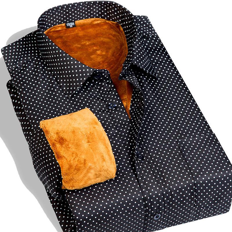 Galeoid thermal sanded male plaid long-sleeve shirt Men berber fleece plus velvet thickening shirt cheap fas