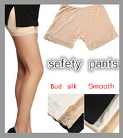 Safety Pants Short  Legging Three Minutes Of Pants The Exposed Pants Lace Leggings Plus size 3 Color 2pcs/lot Free Shipping