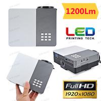 Mini Pico portable proyector Projector AV VGA A/V USB & SD with VGA HDMI Projector projetor beamer Wholesale