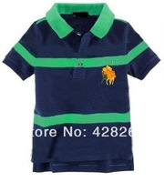 Freeshipping! Trade discount. Children's clothes Mens Blue Stripe T-shirt in 6 batches of a hand