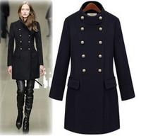 2014 new spring women wool coat woolen outerwear female medium-long ol double breasted overcoat outerwear  Y2P2