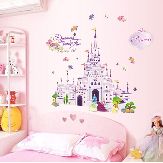 Buy Princess Sleeping Beauty Fantasy Castle Removable Wall S