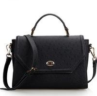 Guaranteed 100% tote genuine leather ostrich grain leather handbag women leather handbags 2015 New tide woman bag shoulder bags