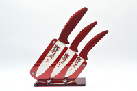 "Free shipping free custom logo High quality 3"" 4"" 5"" inch brand Kitchen Fruit Ceramic Knife Set + Acrylic Holder block"