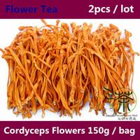 Tea / Flower Tea 300g Organic Loose Tea Health Tonic Cordyceps Flowers, Health Care Dried Fowers Supplements And Vitamins 150g*2